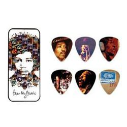 Boite de 6 MEDIATORS collector HENDRIX