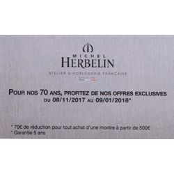 HERBELIN 70 EUROS de réduction