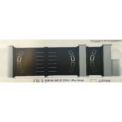 Portail Battant Modèle VIENNE PIANOSA  1750 x 3000 mm