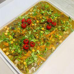 Suggestion du jour : tajine d'agneau légumes et coriandre, riz basmati