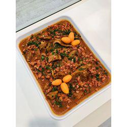 Suggestion du jour : mijoté de volaille au paprika et chorizo, riz basmati