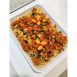 Suggestion du jour : mijoté de canard aux mangues et tomates rôties, tagliatelles maison