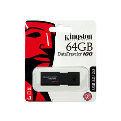 Kingston DataTraveler 100 G3 - Lecteur flash USB - 64 Go - USB 3.0 - noir -