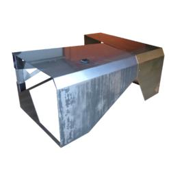 Bureau en métal vernis