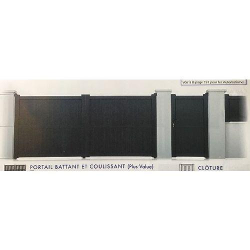 Portail Battant Modele Jura 1700x3000 Mm Portillons Et Portails