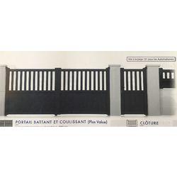 Portail Battant Modèle INDRE  1700 x 3000 mm