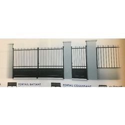 Portail en Acier  Battant Modèle SOMME  largeur 3000 mm