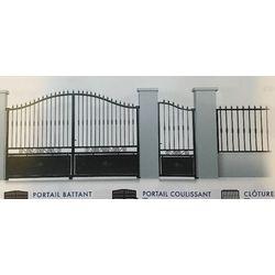 Portail Acier Coulissant Modèle MOSELLE  largeur 3060 mm