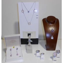 Collection bijoux diamants sur or blanc 750/1000