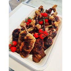 Suggestion du jour : cuisse de poulet rôtie à la fleur de sel, pommes dauphines