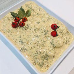 Suggestion du jour : filet mignon, crème légère à la moutarde, riz basmati