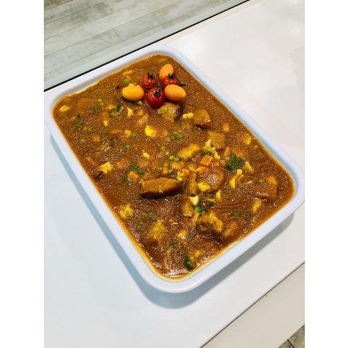 Suggestion du jour : sauté de porc au curry, riz basmati