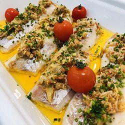 Suggestion du jour : dos de colin XXL aux petits légumes marinés et riz basmati