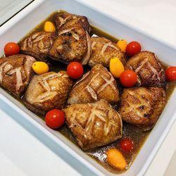 Suggestion du jour : suggestion fête des pères ... ou pas !!! Magret de canard sauce au poivre et tagliatelles maison