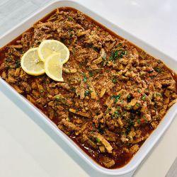 Suggestion du jour : émincé de porc à la provençale et riz basmati