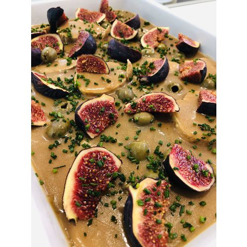 Suggestion du jour : filet mignon aux olives et aux figues, tagliatelles maison