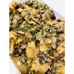 Suggestion du jour : médaillons de pintade aux champignons des bois et riz basmati
