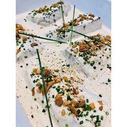 Suggestion du jour : dos de colin, crème légère moutarde miel et riz basmati