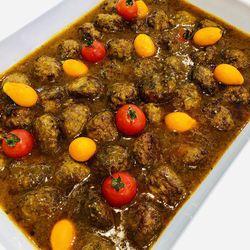 Suggestion du jour : boulettes de veau au curry doux et tagliatelles fraîches fabriquées maison