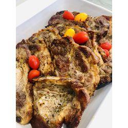 Suggestion du jour : grillade d'échine de porc marinée et courgettes poêlées