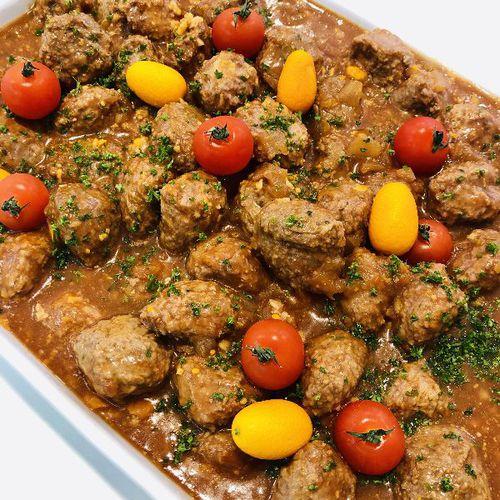Suggestion du jour : boulettes de veau  aux épices douces et pâtes italiennes