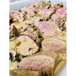 Suggestion du jour : mignon de porc miel moutarde, cuisson basse température et tagliatelles fraîches fabriquées maison