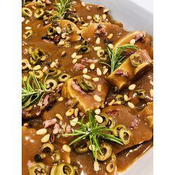 Suggestion du jour : mignon de porc à l'italienne et tagliatelles fraîches fabriquées maison