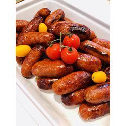 Suggestion du jour : mini chorizos grillés et tagliatelles fraîches fabriquées maison