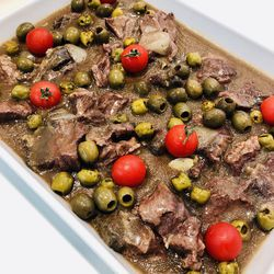 Suggestion du jour : b½uf fondant aux olives, cuisson basse température et tagliatelles fraîches fabriquées maison