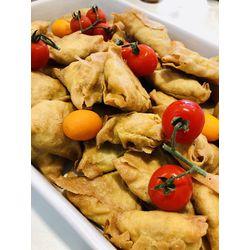 Suggestion du jour : samossas au b½uf et légumes asiatiques au wok